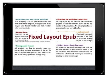 What is Fixed Layout Epub