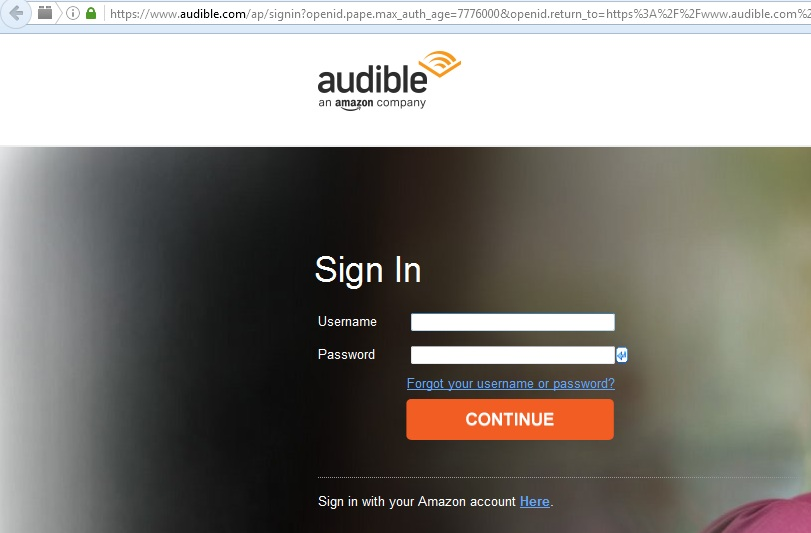 Audible and Amazon accounts