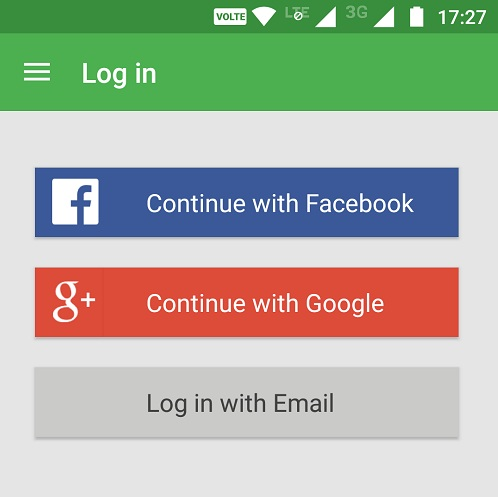 Google and Facebook logins