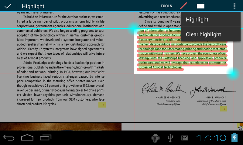 ebookdroid text highlights